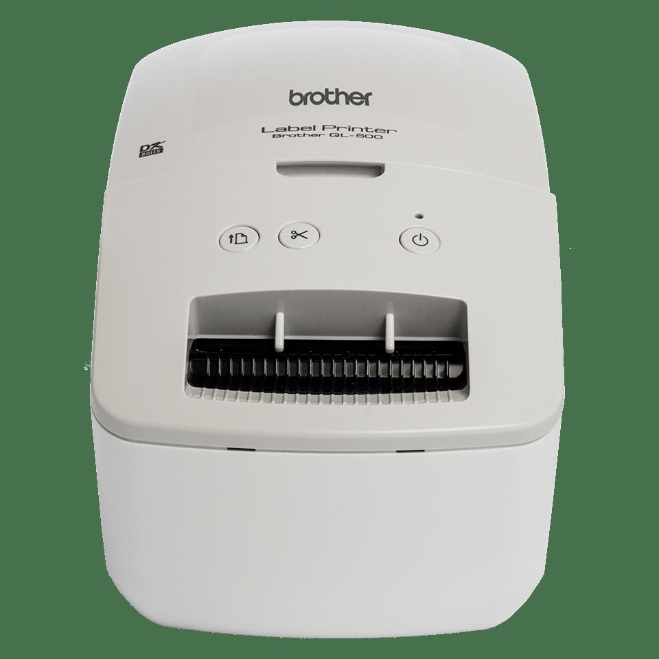 Brother QL-600G address label printer - front angle