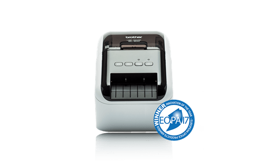 QL-800 Imprimante de bureau pour étiquettes professionnelles en noir et rouge