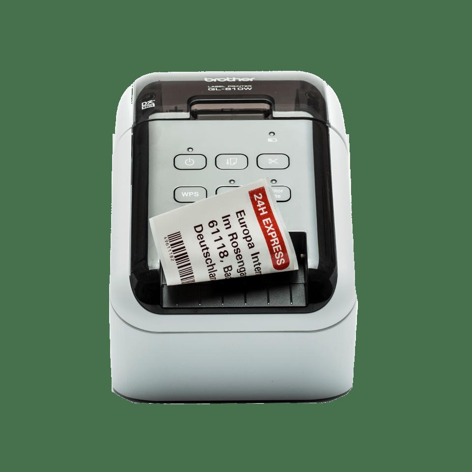 QL-810W Professioneller WLAN-Etikettendrucker mit Rot-Schwarz-Druckfunktion