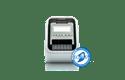 QL-820NWB Imprimante autonome pour étiquettes professionnelles en noir et rouge