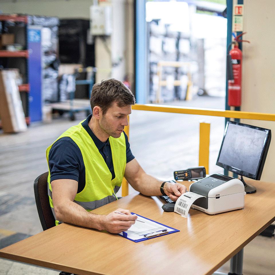 TD-4410D Imprimante d'étiquettes de bureau professionnelle 4