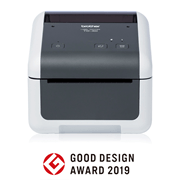 Brother TD-4420DN desktop label printer front shot