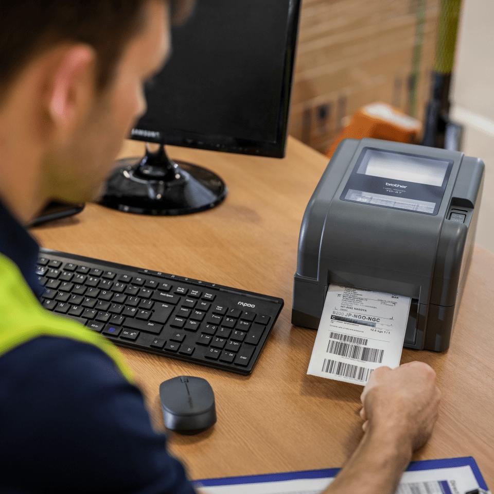 TD-4420TN imprimantă de etichete desktop cu transfer termic 6