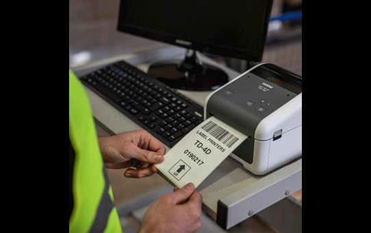 TD-4520DN imprimante d'étiquettes professionnelle 4 pouces - thermique directe + LAN 5