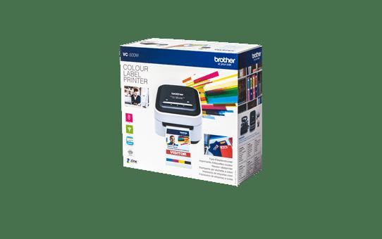 VC-500W barvni tiskalnik nalepk 4
