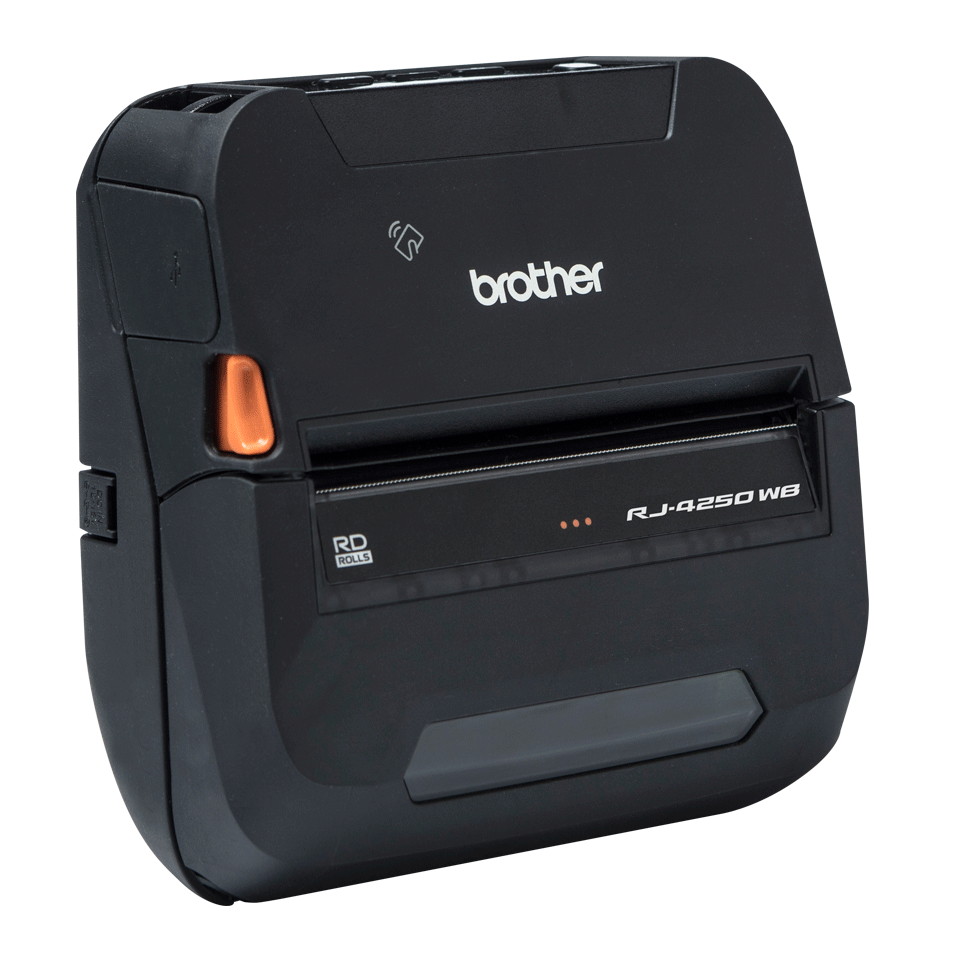 Brother RJ4250WB mobil kvitteringsskriver og etikettskriver med Wi-Fi og Bluetooth 3