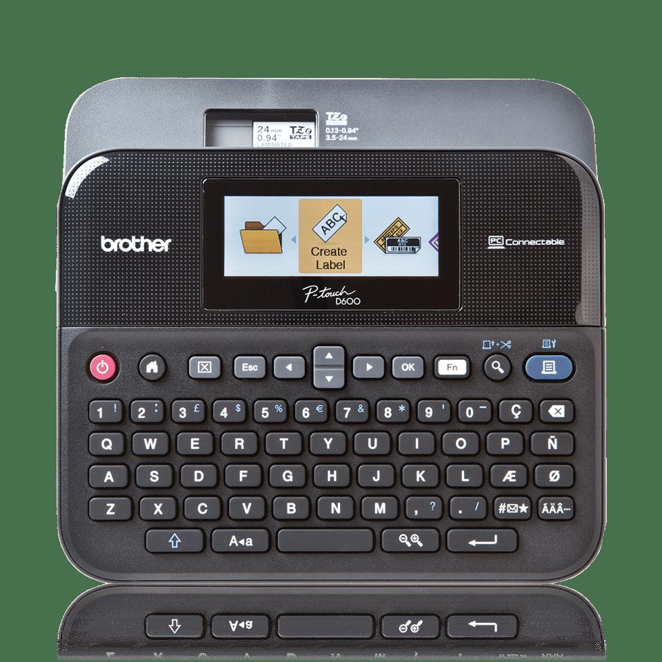 Brother PT-600VP -  Professionelles Beschriftungsgerät inklusive Farbdisplay