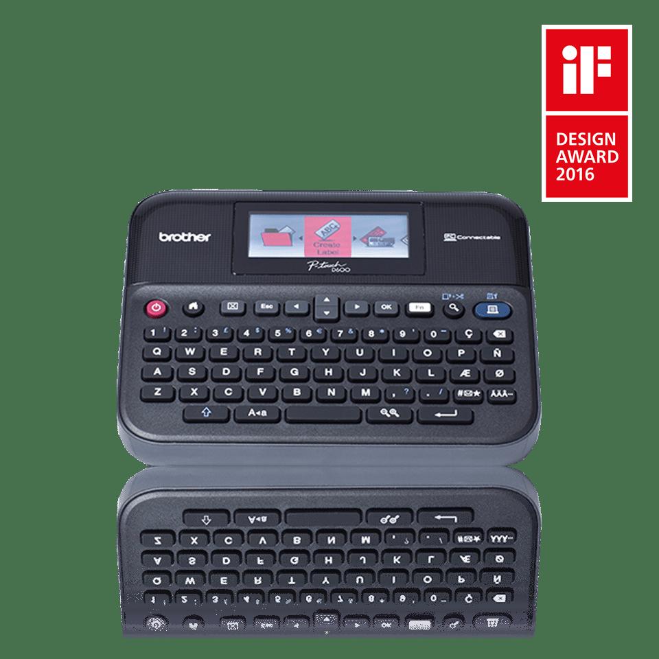 tlačiareň P-touch PT-D600VP s logom Design Award