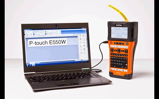 PT-E550WNIVP címkenyomtató készlet hálózati infrastruktúra kiépítéséhez 6