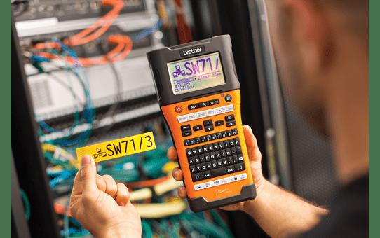 Brother PTE550WNIVP merkemaskin for identifikasjon av nettverksinfrastruktur og kabler 4