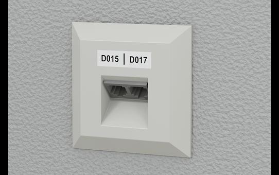 Brother PTE550WNIVP merkemaskin for identifikasjon av nettverksinfrastruktur og kabler 8