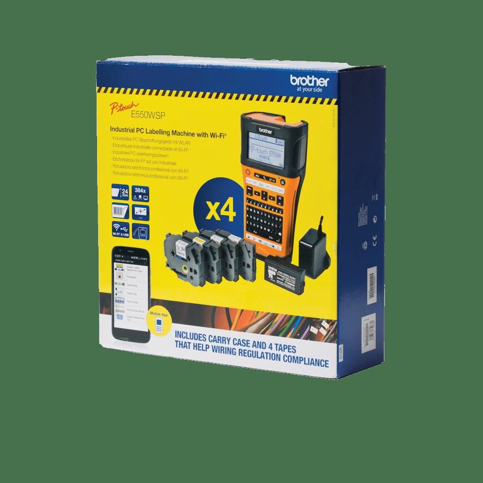 PT-E550WSP étiqueteuse portable P-touch 24mm pour électriciens & datacom