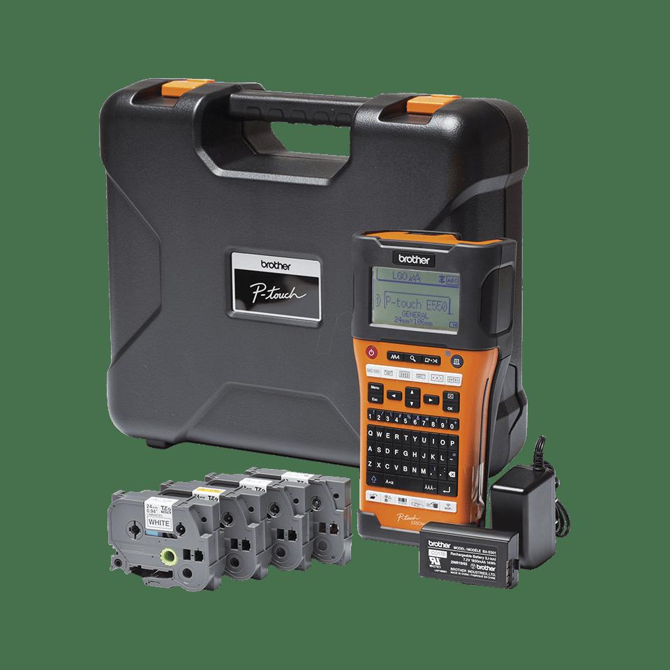 PT-E550WSP étiqueteuse portable P-touch 24mm pour électriciens & datacom 3