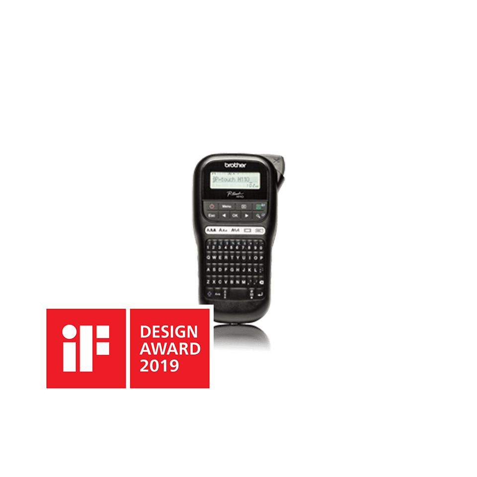 Brother PTH110 merkemaskin med IF Design Award logo