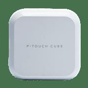 P-touch CUBE Plus - PT-P710BTH - hvid labelprinter set forfra