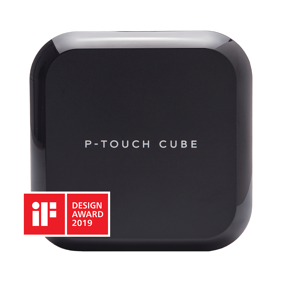 Brother P-touch P710BT CUBE Plus merkemasin med IF Design Award logo