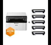 DCP-1610WVB - alt-i-én s/h-laserprinter, All In Box-pakke