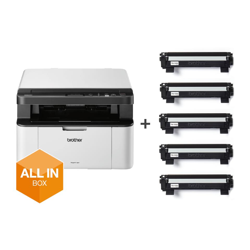 DCP-1610WVB - alt-i-én s/h-laserprinter, All In Box-pakke 6