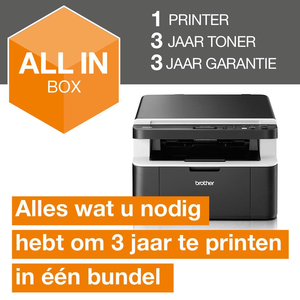 Draadloze all-in-one zwart-witlaserprinter DCP-1612W All-in-Box bundel 3
