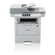 Professional DCPL6600DW 3 in 1 mono laser printer front view with  BLI Line of the Year logo