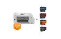 DCP-J1100DW pack All in Box avec imprimante jet d'encre couleur 3-en-1 et 4 cartouches 7