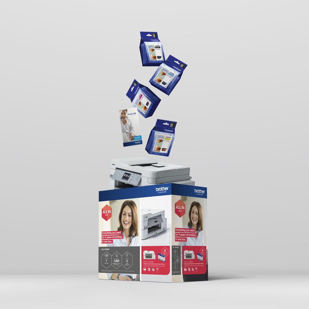Draadloze inkjetprinter DCP-J1100DW All-In-Box bundel 10