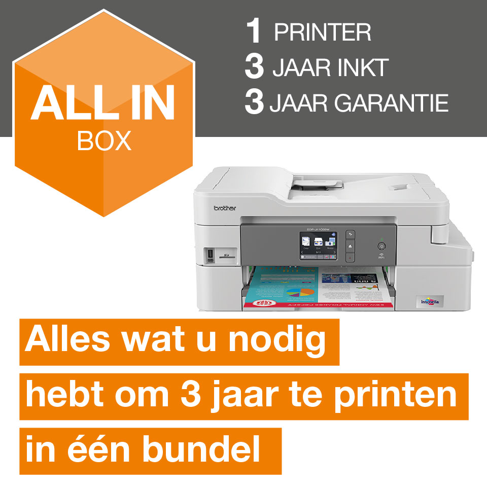 Draadloze inkjetprinter DCP-J1100DW All-In-Box bundel 3