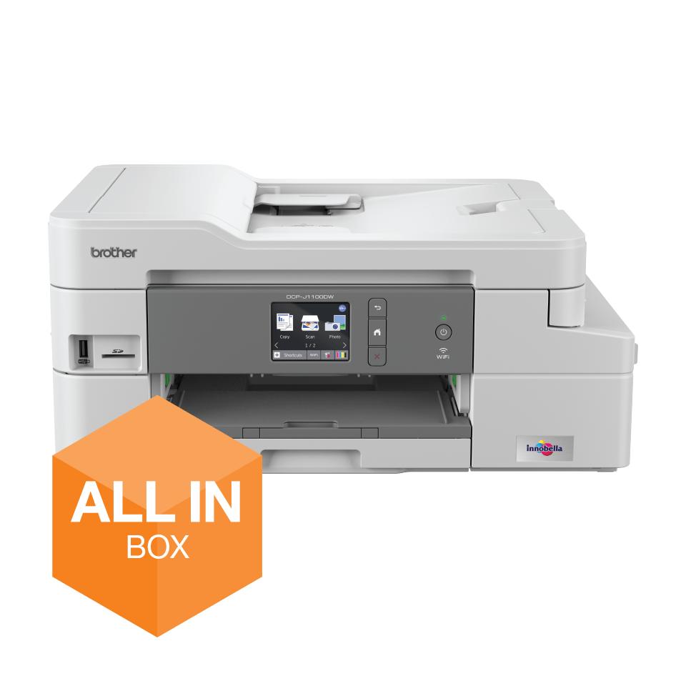 Draadloze inkjetprinter DCP-J1100DW All-In-Box bundel 9