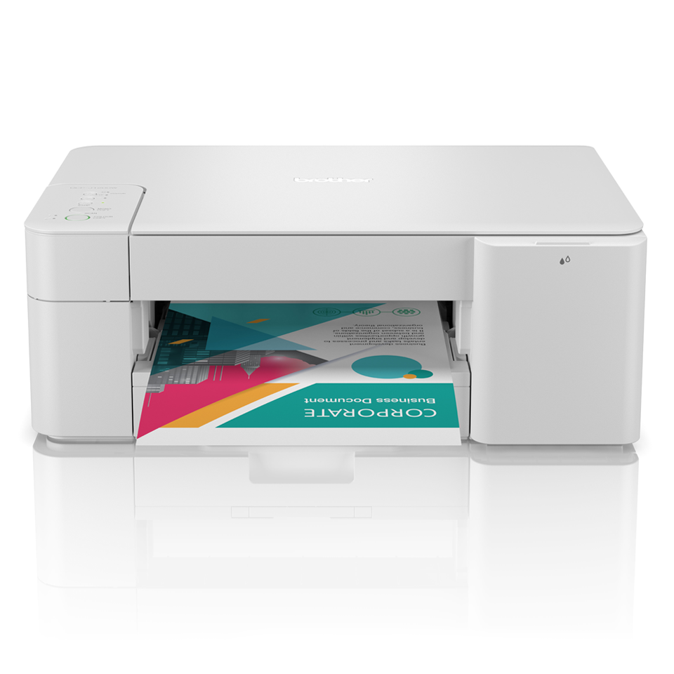 DCPJ1200W from the front with output printing