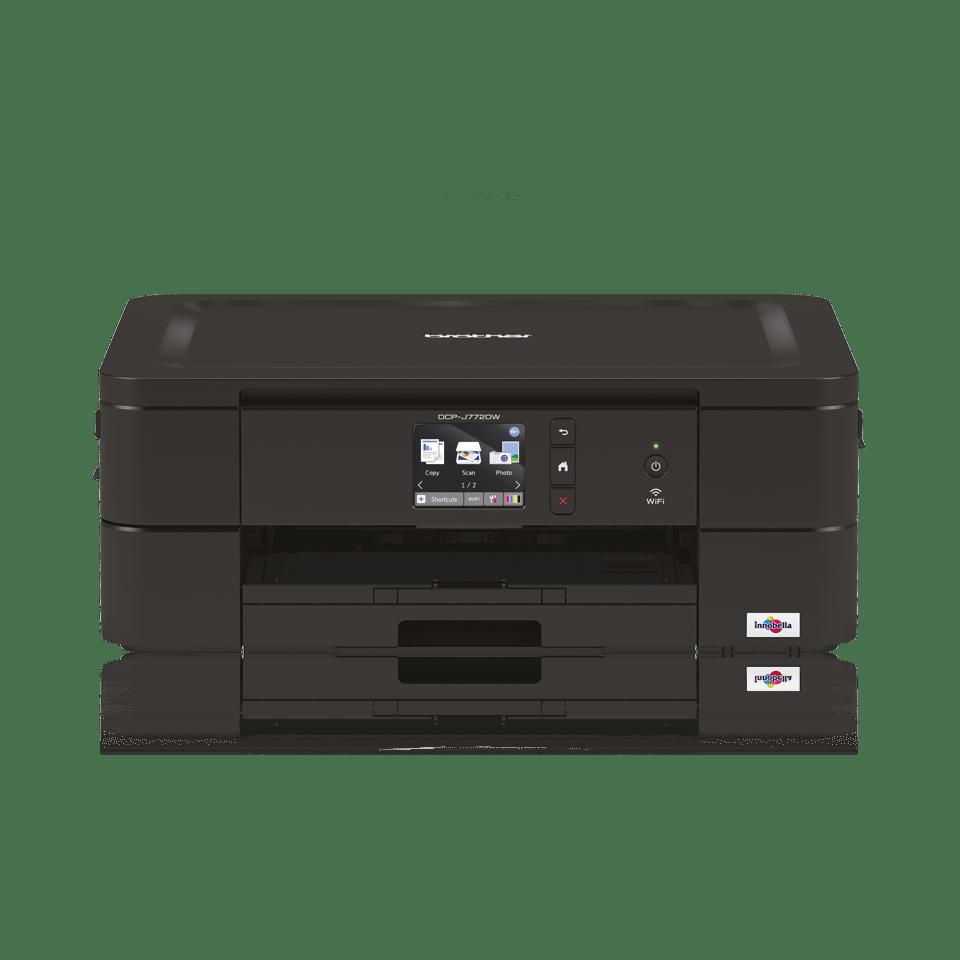 Black inkjet printer facing straight ahead - DCPJ772DW