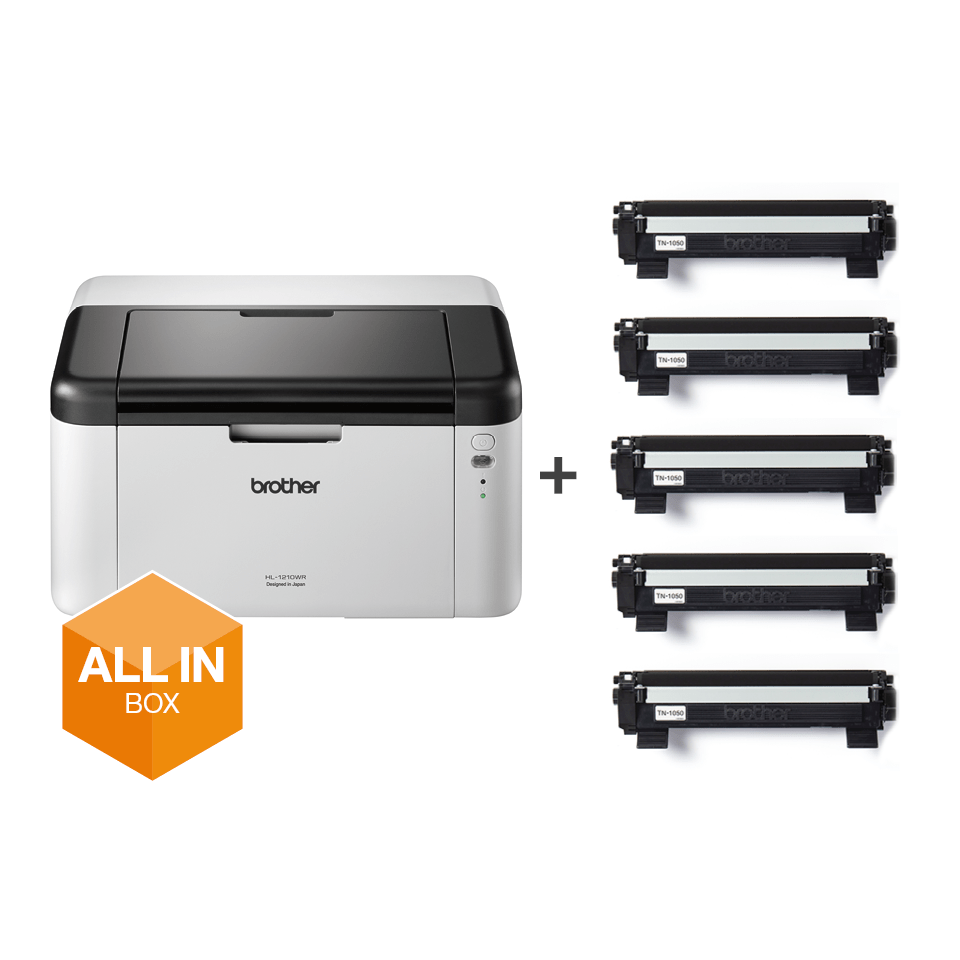 HL-1210W All in Box Bundle - Wireless mono laser printer 8