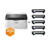 HL-1210WVB - trådløs s/h-laserprinter, All In Box