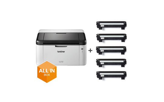 Wireless Mono Laser Printer - HL-1210WVB All in Box Bundle 6