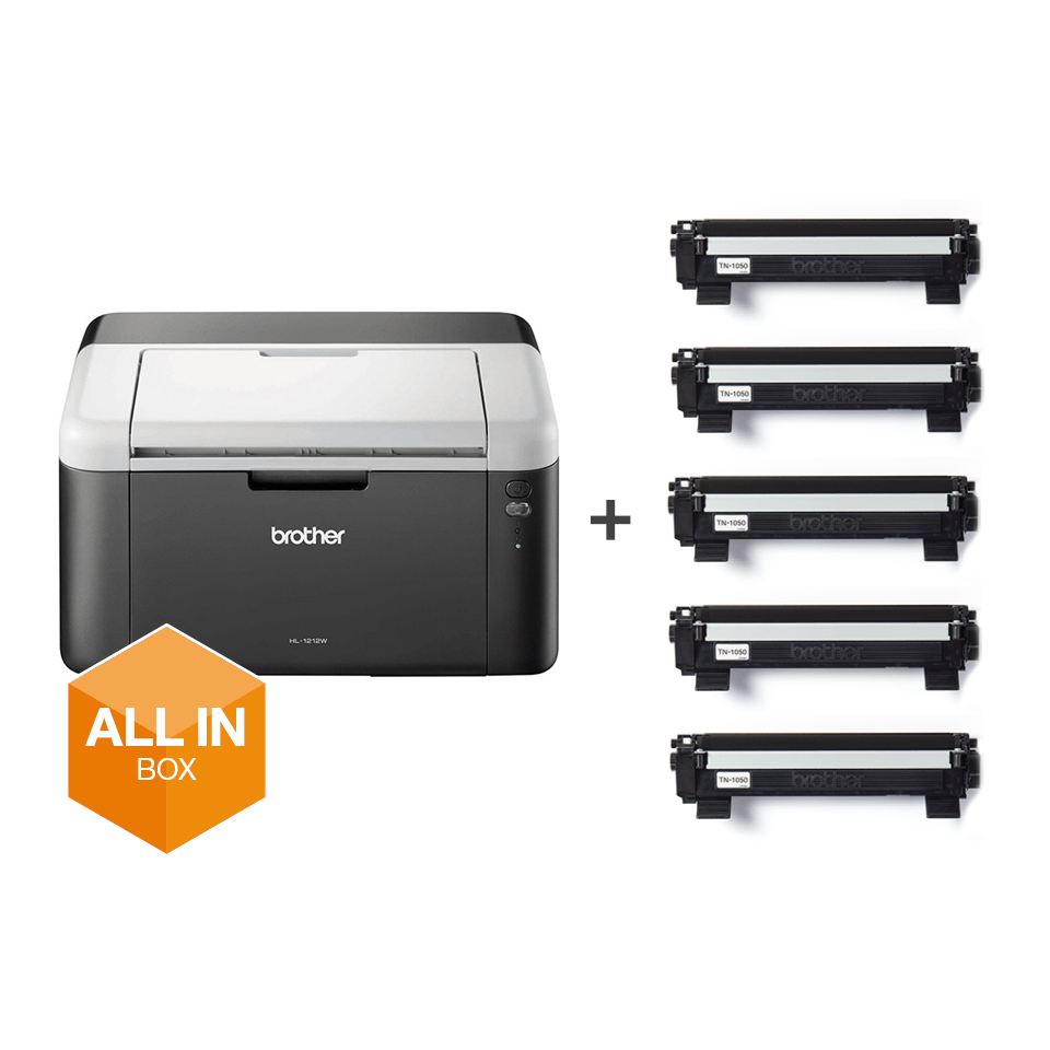 Draadloze zwart-witlaserprinter HL-1212W All-in-Box bundel 2