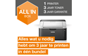 Draadloze zwart-witlaserprinter HL-1212W All-in-Box bundel 3
