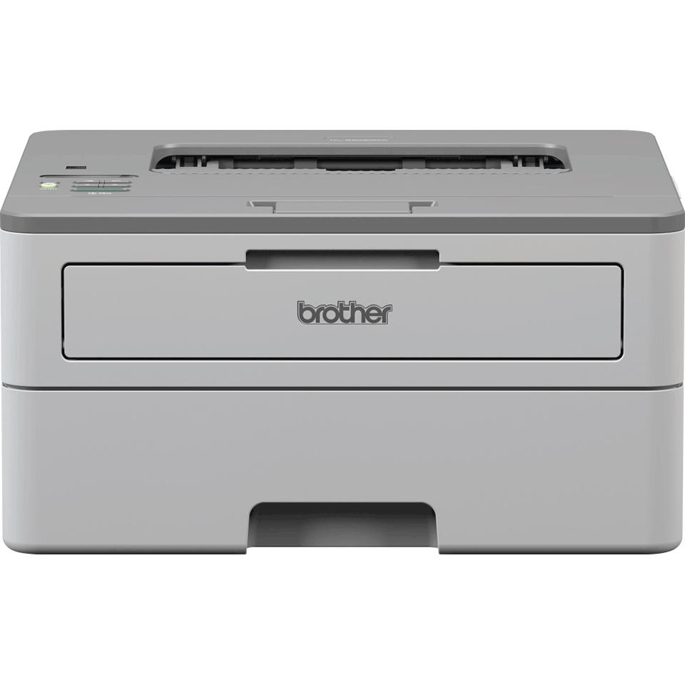 Brother mono laser printer HLB2080DW facing forward