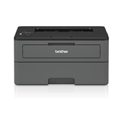Compact mono laser printer front image with reflection