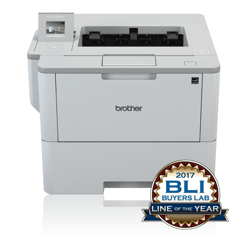 HLL6300DW front view with BLI Line of the Year logo