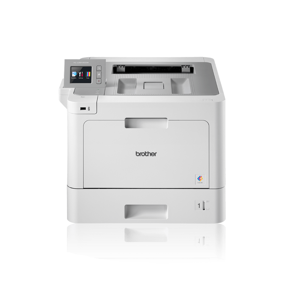 HL-L9310CDW professional colour printer for businesses with BLI logo, IF design 2018 award, Pantone logo