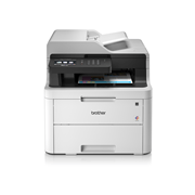 MFCL3730CDN colour LED network printers front facing with paper