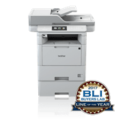 MFCL6800WT skrivare med BLI logga
