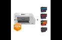 MFC-J1300DW All in Box kleuren inkjet all-in-one printer + 4 inktpatronen 7