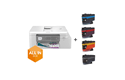 MFC-J4335DWXL - Imprimante jet d'encre multifonction couleur 4-en-1 All in Box pour le travail à domicile