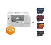 All in Box  4-in-1 colour inkjet printer for home working MFC-J4540DWXL