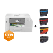 MFCJ4540DWXL front of machine with output printing