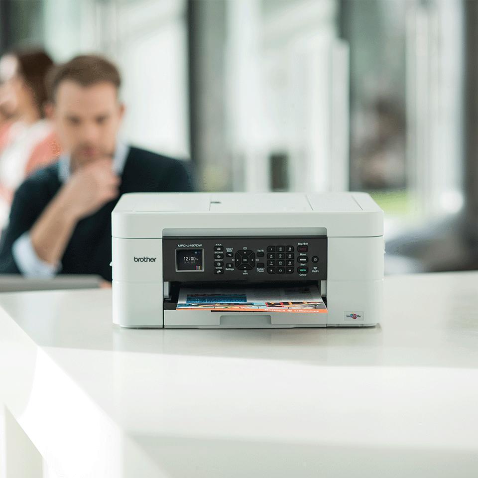 MFC-J497DW er en alt-i-én inkjetprinter med trådløst netkort 3