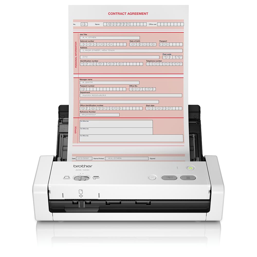 ADS-1200 hordozható, kompakt dokumentum szkenner