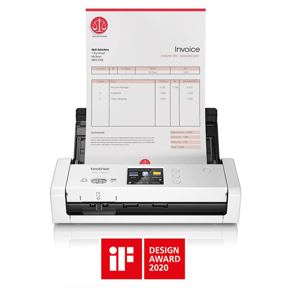 ADS-1700W kompaktowy skaner dokumentów 3