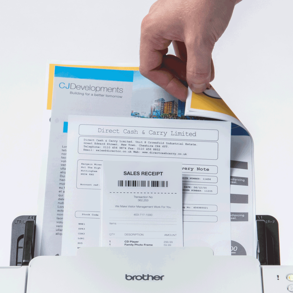 ADS-2700W Scanner documentale con rete cablata e wireless 5
