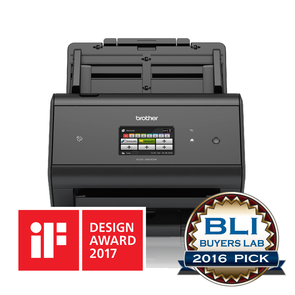 ADS3600W front view with BLI and iF Award Logos